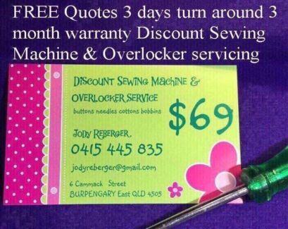 On sale Now Saturday 10 to 12noon Overlocker & Sewing machine