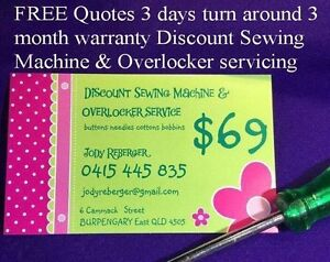 Discount Sewing Machine & Overlocker repairs & servicing Burpengary Caboolture Area Preview