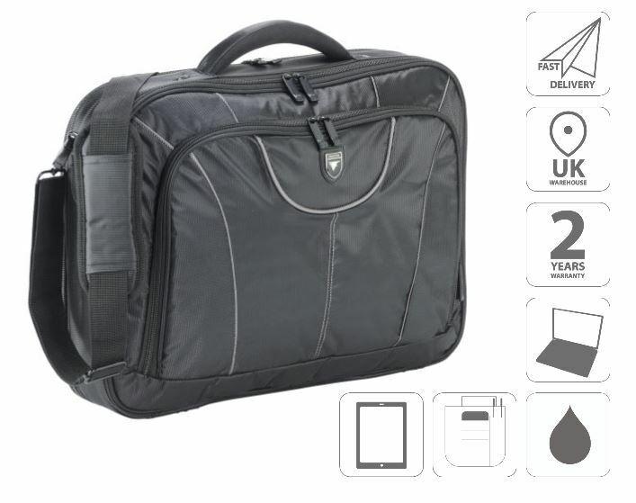 "17/"" Laptop Bag Briefcase Shoulder Bag Black FI2545 /& Free iPad Bag"