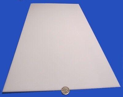 Delrin Acetal Sheet White Pom 18.125 Thick X 12 Width X 24 Length 2 Unit