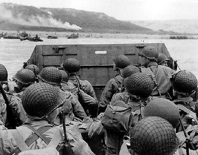 """Landing Craft approaching Omaha Beach on D-Day 8""""x 10"""" World War II 2 Photo 463"""
