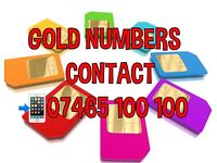 Gold Vip Mobile Numbers 07465 100100