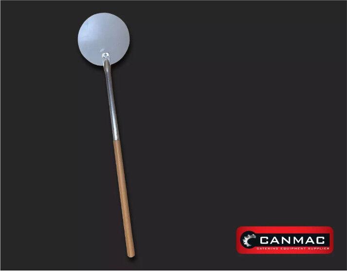 "Round Pizza Shovel Metal Pizza Peel with handle 38"" (97cm) - blade 8.5"" (21.5cm"