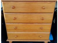 Julien Bowen Micawber Four Drawer Solid Pine Chest