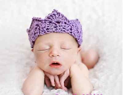 Prinz Kostüm Lila (★★★NEU Baby Fotoshooting Kostüm Kleiner Prinz-Prinzessin Krone lila Nr.M1★★★)