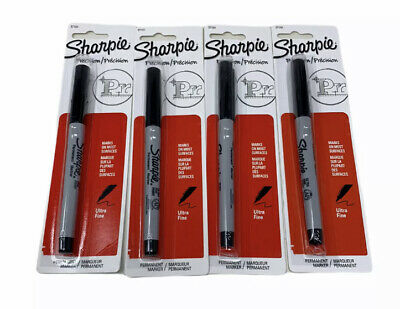 Sharpie Ultra-fine Point Permanent Markers Black Lot Of 4