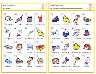 Paquete Digital para Baby Shower (Imprimelo en Casa) Juegos, Loteria...etc!!! segunda mano  Embacar hacia Argentina