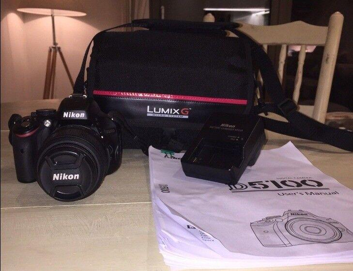Nikon-D5100-16-2MP-Digital-SLR-Camera-w-VR-18-55-mm-Lens and Carry Case