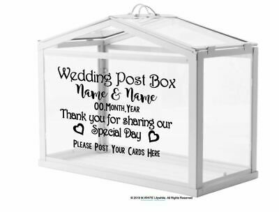 Personalised Wedding Card Post Box Sticker - DIY Post Box - Card Box for Wedding - Box For Wedding Cards