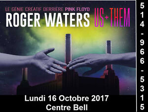 Roger Waters, 16/10/2017, Centre Bell, Section Blanc, Bleu