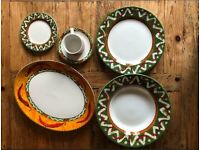 Dinnerware x8 of each crockery set plates cups serving plates