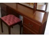 DRESSING TABLE WITH MIRROR AND CHAIR. VERY CHEAP