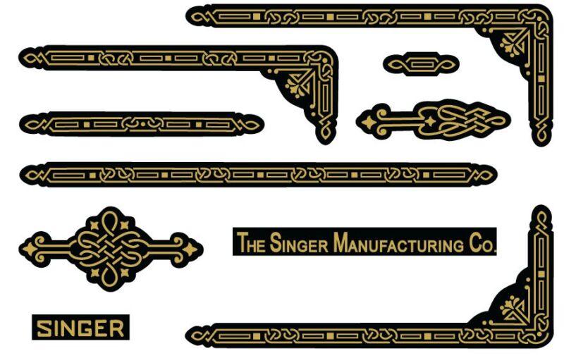 Singer Featherweight 221 Sewing Machine Enhancing Decals Gold Metallic  39590BB