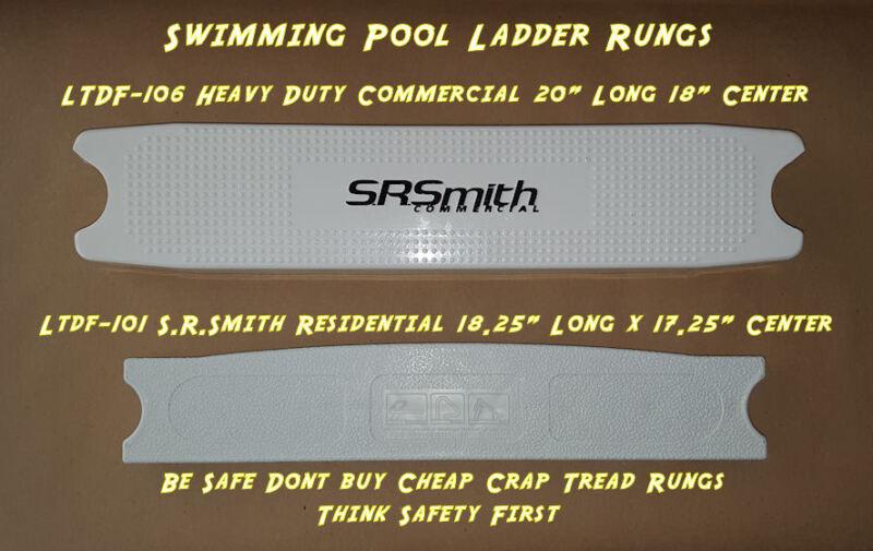 Swimming Pool Ladder Tread Rung White Plastic LTDF - 106 101 103 S.R. Smith Step