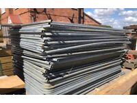 Used heras security fence sets