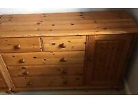 SOLID WOOD PINE. CHEST OF DRAWERS