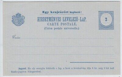 Ungarn, ungebrauchte GA-Postkarte mit Werbung