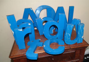 "Solid Aluminum Letters - 1"" thick  Steam Punk $15.00 & up"