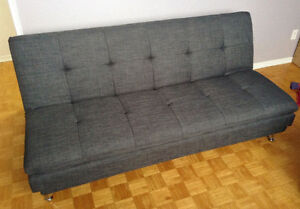 "Grey Futon - Double/Full  45"" x 74"""