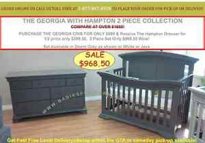 FREE DELIVERYGTA BUY 1 GET 1 FOR 50% OFF CONVERTIBLE BABY CRIBS