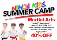 Summers not over yet! Enroll your kids in NINJA CAMP!