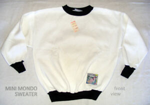 Vintage Woman's Sweater L white 50% Poly/ Tag Canada NEW