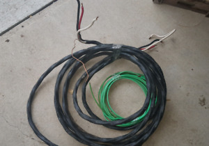 Hot tub wire. Approximately 40ft of 6.3