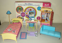 Barbie Bedroom Furniture Set with Box