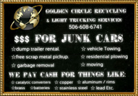 Golden Circle recycling and Light trucking services