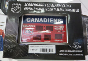 Montreal Canadiens Scoreboard LED NHL Alarm Clock