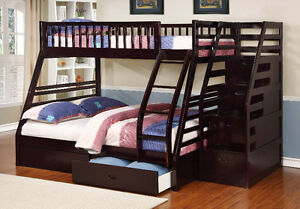 Twin over Full Bunk Bed w/ Storage Drawers! Free Delivery! Edmonton Edmonton Area image 7