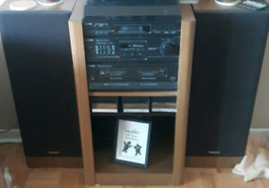 Stereo and stand with speakers