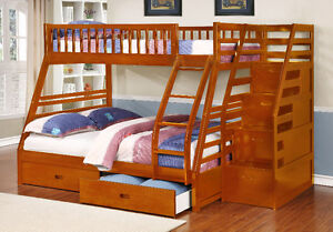 Twin over Full Bunk Bed w/ Storage Drawers! Free Delivery! Edmonton Edmonton Area image 8