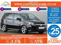 2011 VAUXHALL ZAFIRA 1.7CDTi SRI 7 SEAT GOOD BAD CREDIT CAR FINANCE FROM 25 P/WK
