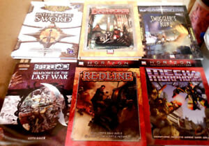 RPG Fantasy Role Playing Game Book lot D20