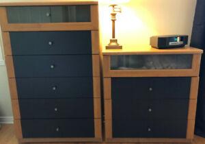 Deux commodes IKEA pour chambre