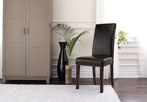 Leather Dining Chair in Espresso Colour -Moving