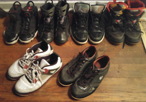 Men's shoes size 12 take all for only 50!!! Nike Jordan's