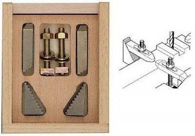 Proxxon Staffe di serraggio a gradini per tavolo a croce MicroMot KT70 Mod.24256