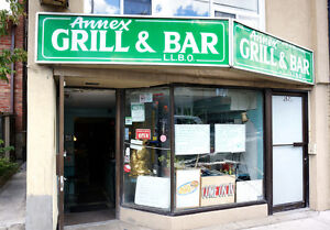Grill & Bar for sale close to Dupont Subway STN, George Brown...