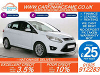 2011 FORD C-MAX 1.6 TDCI TITANIUM GOOD / BAD CREDIT CAR FINANCE FROM 25 P/WK