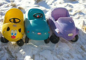large wagons & Little Tykes Cozy Coupes cars.tricycles too