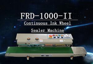 Horizontal INK wheel coder Continuous Bag Sealing Machine 110v