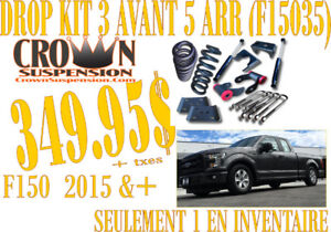 SPÉCIAL-Crown Sus. Drop Kit 3'' avant 5 '' arr F150 15-17 F15035
