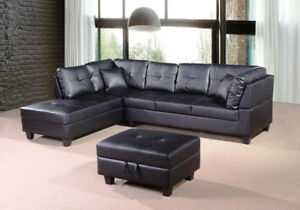 2 pcs Sectional sofa set $899. Brand new in Box Air Leather.....