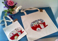 SUPER CUTE! RED VINTAGE BOLER UPCYCLED HANDMADE BAGS