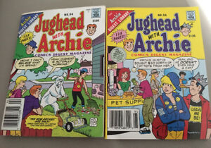 JUGHEAD WITH ARCHIE COMIC BOOKS USED
