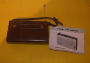 Vintage TIMES 2 Band TRANSISTOR RADIO - With Leather Case