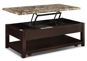 Coffee table with loft top