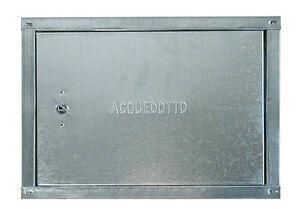 Sportello in lamiera zincata per contatore acqua cm 50x60 for Armadio contatore gas